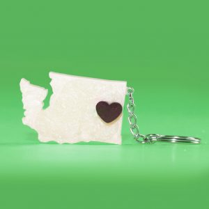 Inland Northwest Trading Co. WA Acrylic Keychain by A Redhead's Touch Spokane