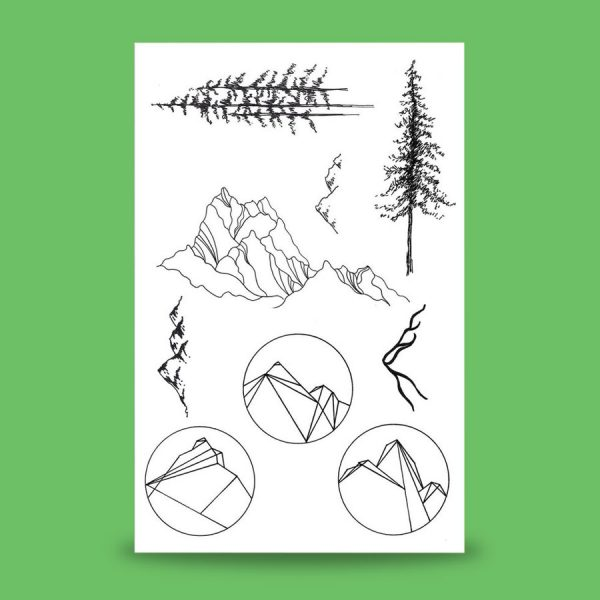 Inland Northwest Trading Co. Mountain & Pine Temporary Tattoos by 18th Avenue Designs