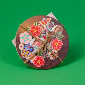 Coasters Featuring Hand Beaded Flower Medallionsby Plains Soul