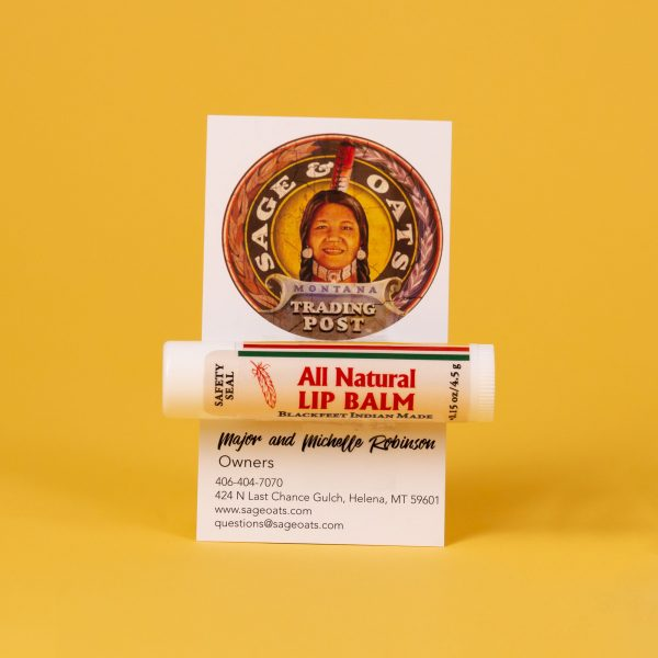 Blackfeet Indian Made Lip Balm by Red Root Herbs from Sage & Oats Trading Post