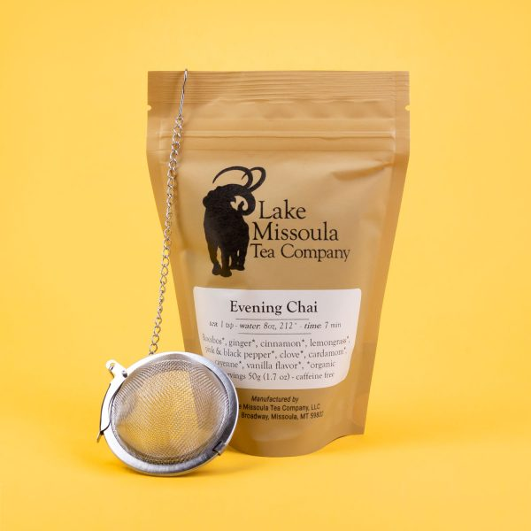 Evening Chai Loose Leaf Tea (8oz.) and Steel Ball Strainer by Lake Missoula Tea Co. | Missoula, MT