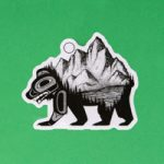 Tlingit Inspired Vinyl Sticker by Nick Alan Art