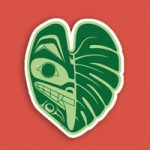 Monstera Wolf Vinyl Sticker by Nick Alan Art