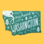 My Heart is in WA Sticker by Noteworthy Paper & Press