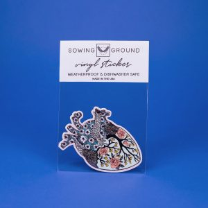 Floral Heart Vinyl Sticker by Sowing Ground | Bremerton, WA