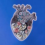 Floral Heart Vinyl Sticker by Sowing Ground