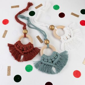 Macrame Tassel Ornaments by Roving Goddess | Spokane, WA