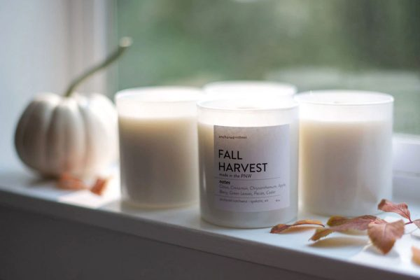 Anchored Northwest Fall Harvest Wood-Wick Soy Wax Candle | Spokane, WA