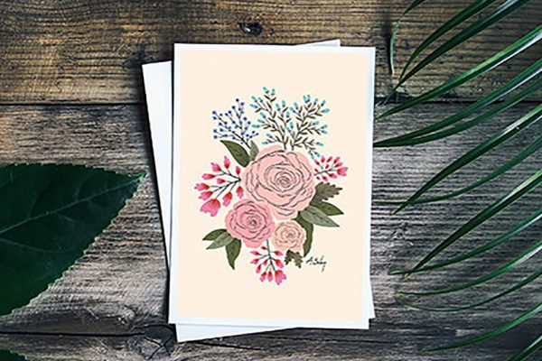 Annie Bailey Art | Floral Greeting Card | Billings, MT