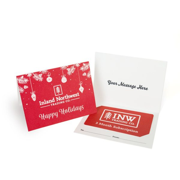 Inland Northwest Trading Co. Holiday Gift Card