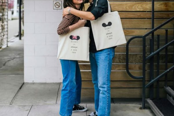 Be Collective Pressed Shop | Boise, ID | Custom Mickey & Minnie Mouse Disney Tote Bags