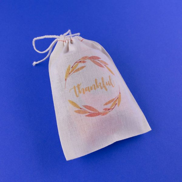 """""""Thankful"""" Muslin Bag by Be Collective Pressed Shop 