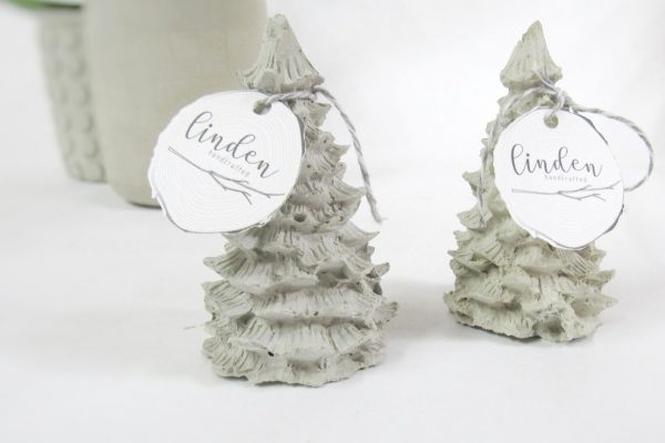 Linden Handcrafted Concrete Christmas Trees