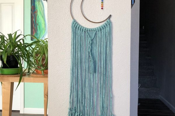 Roving Goddess Macrame Moon