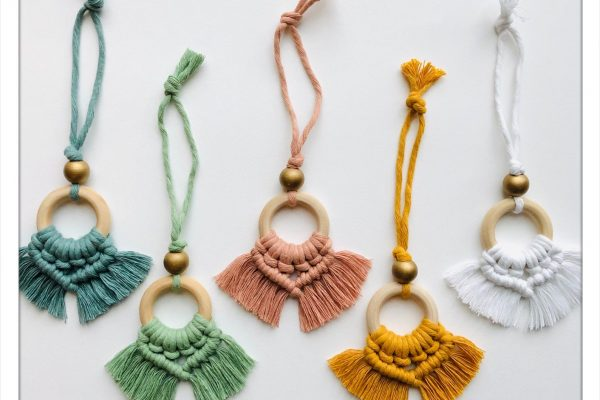 Roving Goddess Macrame Tassel Ornaments