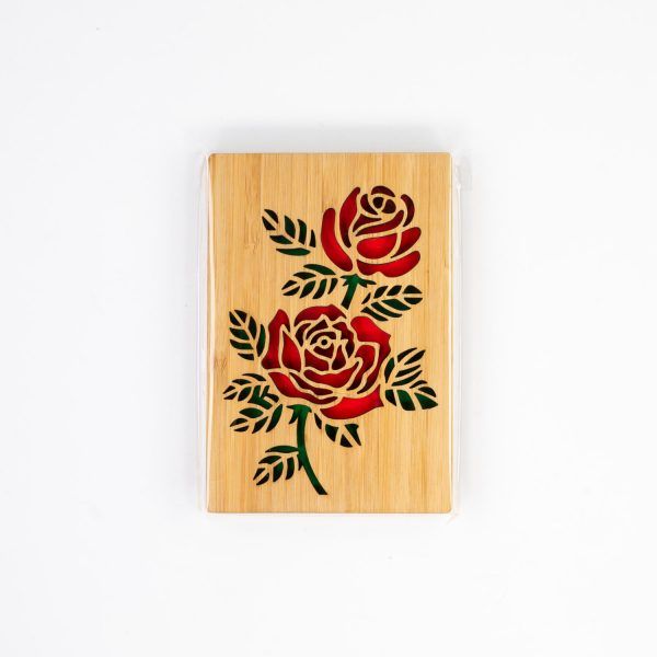 Bamboo Rose Engraved Card | Oh My Laser | Snoqualmie, WA
