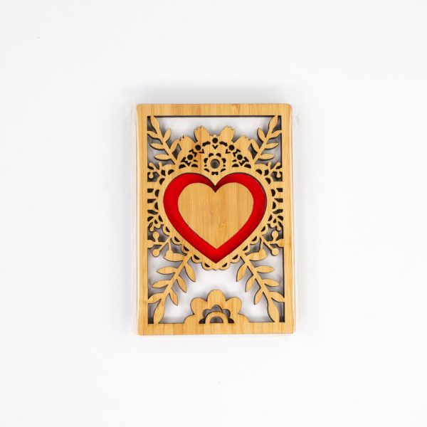 Bamboo Heart Engraved Card | Oh My Laser | Snoqualmie, WA