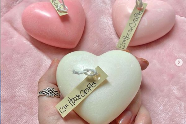 12th House Crafts Heart Candles